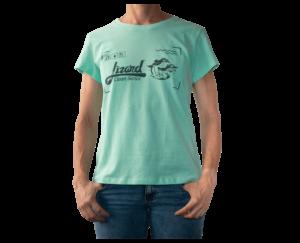 Camiseta Verde Menta Mujer Lizard clean series