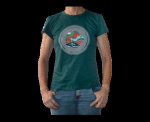 Camiseta Verde Oscuro Mujer Lizard clean series