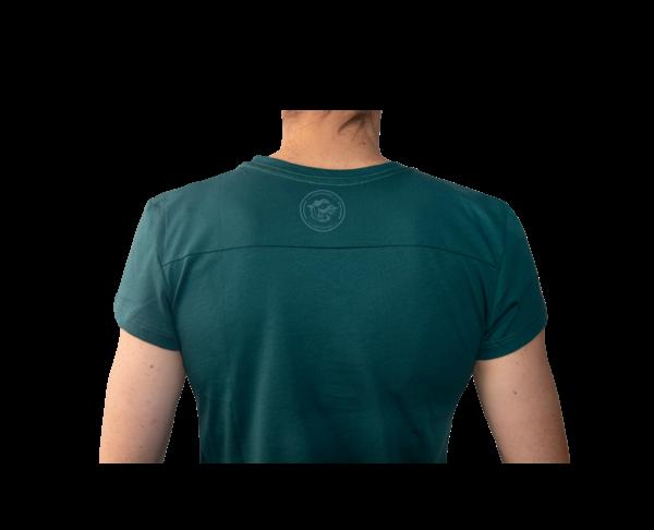 Camiseta Verde Oscuro Mujer Espalda Lizard clean series