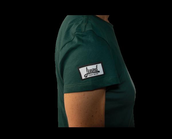 camiseta mujer verde oscuralizard clean series